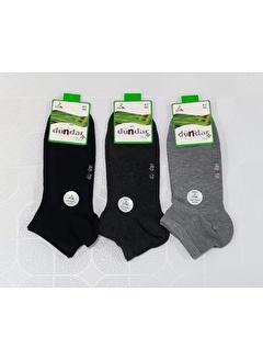 Dündar Erkek Bambu Patik Çorap Plus Dikişsiz 3'Lü
